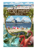 Fort Myers, Florida - Montage Scenes Posters by  Lantern Press
