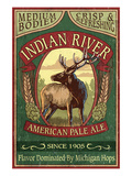 Indian River, Michigan - Elk Pale Ale Print by Lantern Press