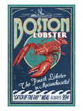Boston, Massachusetts - Lobster Plakater af  Lantern Press