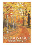 Woodstock, New York - Fall Colors Scene Prints by  Lantern Press