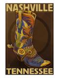 Lantern Press - Nashville, Tennessee - Boot - Reprodüksiyon