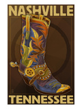 Nashville, Tennessee - Boot Pôsters por Lantern Press