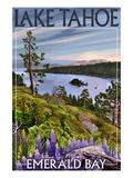 Lake Tahoe, California - Emerald Bay Posters af  Lantern Press