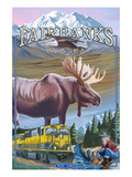 Fairbanks, Alaska - Montage Scenes Poster by  Lantern Press