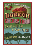 Traverse City, Michigan - Cherry Farm Kunst von  Lantern Press