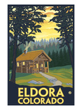 Eldora, Colorado - Cabin Scene Prints by  Lantern Press