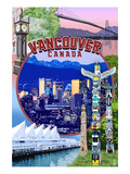 Vancouver, BC - Montage Scenes Posters by Lantern Press