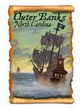 Pirate Ship - Outer Banks, North Carolina Prints by  Lantern Press