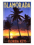 Islamorada, Florida Keys - Palms and Sunset Pósters por  Lantern Press