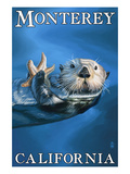Monterey, California - Sea Otter Art by  Lantern Press