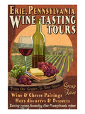 Erie, Pennsylvania - Wine Tasting Prints by  Lantern Press