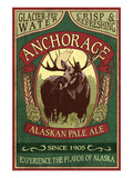 Anchorage, Alaska - Moose Head Ale Posters by Lantern Press 