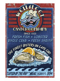 Wellfleet Oyster Bar - Cape Cod, Massachusetts Prints by  Lantern Press