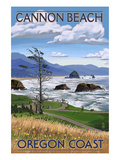 Cannon Beach, or - Oregon Coast View Posters by  Lantern Press