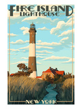 Fire Island Lighthouses - Captree Island, New York Prints by  Lantern Press