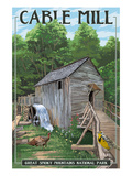 Lantern Press - Cable Mill - Great Smoky Mountains National Park, TN Plakát