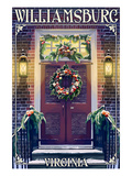 Williamsburg, Virginia - Christmas Door Prints by  Lantern Press