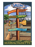 Salem, Massachusetts - Sign Destinations Prints by  Lantern Press