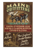 Maine Moose Outfitters Prints by Lantern Press 