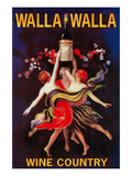 Women Dancing with Wine - Walla Walla, Washington Poster von  Lantern Press