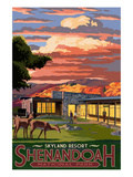 Shenandoah National Park, Virginia - Skyland Resort Prints by  Lantern Press