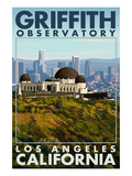 Griffith Observatory Day Scene - Los Angeles, California Posters by Lantern Press
