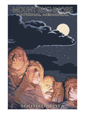Mount Rushmore National Memorial, South Dakota - Night Scene Posters by  Lantern Press