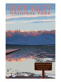 Badwater - Death Valley National Park Prints by  Lantern Press