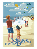 Mexico Beach, Florida - Kite Flyers and Beach Prints by  Lantern Press