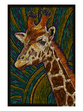 Giraffe - Paper Mosaic Posters by  Lantern Press