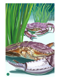Dungeness Crab Prints by Lantern Press