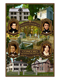 Concord, Massachusetts - Authors of Concord Posters by  Lantern Press