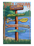 North Augusta, South Carolina - Sign Destinations Prints by Lantern Press