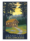 Cabin Scene - Grand Lake, Colorado Prints by  Lantern Press