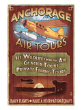 Anchorage, Alaska - Air Tours Posters by Lantern Press 