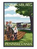 Smicksburg, Pennsylvania - Amish Farm Scene Poster by  Lantern Press