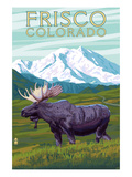 Frisco, Colorado - Moose and Mountains Prints by  Lantern Press