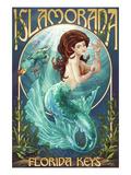 Islamorada, Florida Keys - Mermaid Poster par  Lantern Press