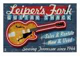 Leiper's Fork, Tennessee - Guitar Shack Art by  Lantern Press