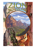 Zion National Park - Montage Views Prints by  Lantern Press