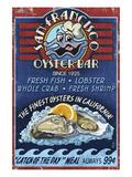 San Francisco, California - Oyster Bar Reprodukcje autor Lantern Press