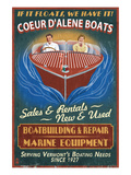 Coeur D'Alene, Idaho - Wooden Boats Posters by  Lantern Press