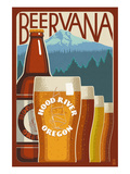 Beervana - Hood River, Oregon Prints by  Lantern Press