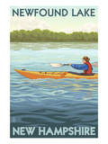 Newfound Lake, New Hampshire - Kayak Scene Posters by Lantern Press
