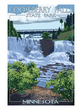 Gooseberry Falls State Park - Minnesota Print by  Lantern Press