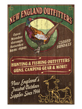 New England Outfitters - Pheasant Prints by  Lantern Press