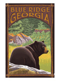 Blue Ridge, Georgia - Bear in Forest Prints by Lantern Press 
