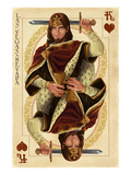 Las Vegas, Nevada - King of Hearts Art by  Lantern Press