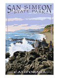San Simeon State Park - Beach Scene - California Posters by  Lantern Press