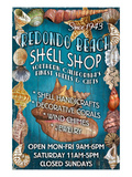 Redondo Beach, California - Shell Shop Prints by  Lantern Press